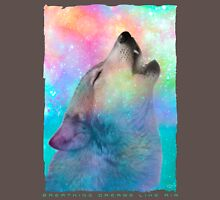 Breathing Dreams Like Air (Wolf Howl Abstract I: Mint) Unisex T-Shirt