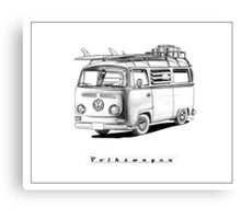 VW Type 2 Bay Window Surfer - 'Signed' Canvas Print