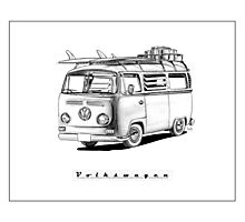 VW Type 2 Bay Window Surfer - 'Signed' Photographic Print
