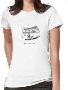 VW Type 2 Bay Window Surfer - 'Signed' Womens Fitted T-Shirt
