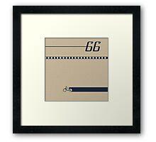 Pedal 66 Framed Print