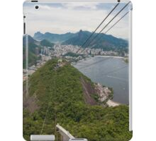 Panorama of Rio de Janeiro from atop Sugarloaf Mountain iPad Case/Skin