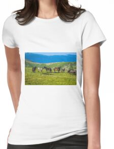 Herd Of Horses high In The Mountains Womens Fitted T-Shirt