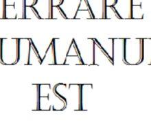 ERRARE HUMANUM EST Sticker