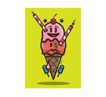 Ice Cream Vector Art Print