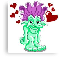Funny Lovely Troll Canvas Print