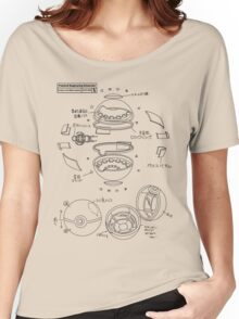 Pokeball Engineering Schematic Women's Relaxed Fit T-Shirt