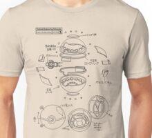 Pokeball Engineering Schematic Unisex T-Shirt
