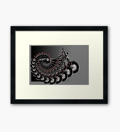 harley spiral Framed Print