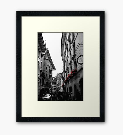 flower boxes Framed Print