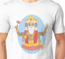 illustration of Hindu deity lord Brahma Unisex T-Shirt