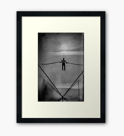 The Amazing Gravity Defying Man - Brighton - England Framed Print