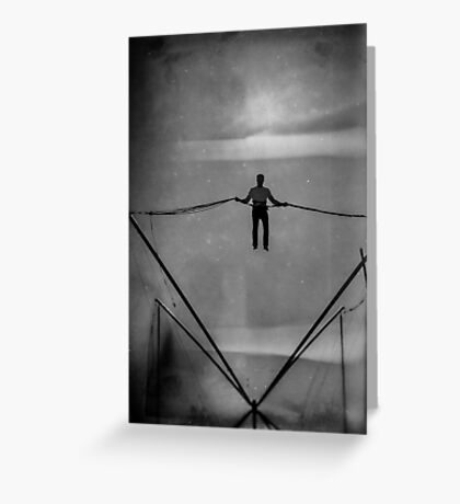 The Amazing Gravity Defying Man - Brighton - England Greeting Card