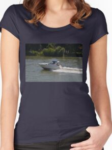 Powerful Motor Boat Women's Fitted Scoop T-Shirt