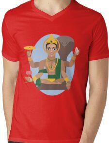 illustration of Hindu deity lord Vishnu Mens V-Neck T-Shirt