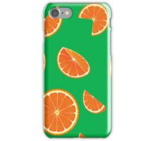 Bright collection of orange slices, background iPhone Case/Skin