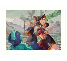 Megaman & Ciel Art Print