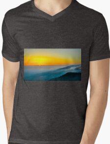 Beautiful sunrise over the Mountain Mens V-Neck T-Shirt