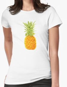 Pineapple. watercolor Womens Fitted T-Shirt