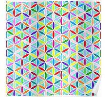 Flower of Life Pattern – Multicoloured Poster