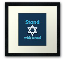 Stand with Israel Framed Print