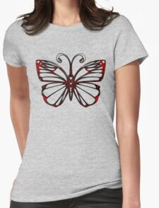 Black Iron Butterfly Womens Fitted T-Shirt