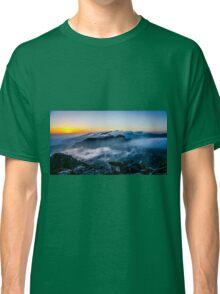 Beautiful sunrise over the Mountain Classic T-Shirt