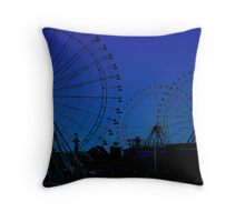 ferris wheel city Throw Pillow