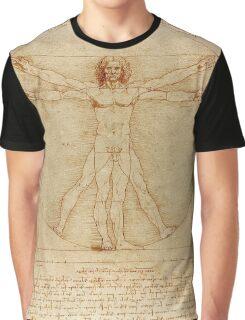 Leonardo Da Vinci's Vitruvian Man Graphic T-Shirt