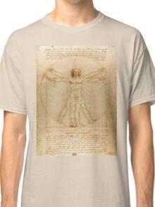 Leonardo Da Vinci's Vitruvian Man Classic T-Shirt
