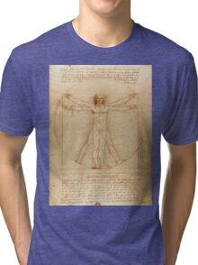 Leonardo Da Vinci's Vitruvian Man Tri-blend T-Shirt