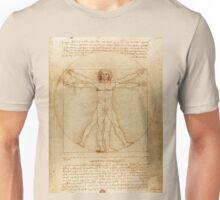 Leonardo Da Vinci's Vitruvian Man Unisex T-Shirt