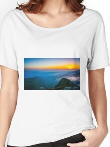Beautiful sunrise over the Mountain Women's Relaxed Fit T-Shirt