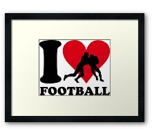 I love Football Framed Print