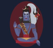 illustration of Hindu deity lord Shiva Kids Tee