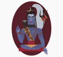 illustration of Hindu deity lord Shiva One Piece - Short Sleeve