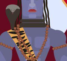 illustration of Hindu deity lord Shiva Sticker