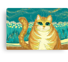 Cat And Pollen Canvas Print