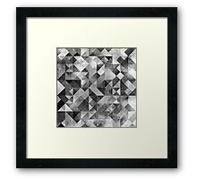 MOON MATRIX Framed Print