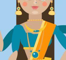 illustration of Hindu deity mother Lakshmi Sticker
