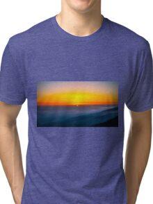 Beautiful sunrise over the Mountain Tri-blend T-Shirt