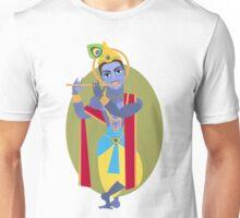 illustration of Hindu deity Lord Krishna flute Unisex T-Shirt
