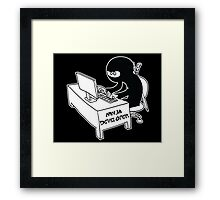 ninja developer programming language black ed Framed Print
