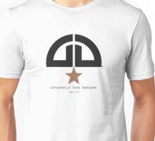 Sparkle the brain logo - lightbrown/darkgrey Unisex T-Shirt