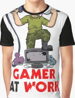 Gamer at Work Graphic T-Shirt