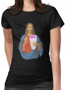 Jesus X Lean thuggin Womens Fitted T-Shirt