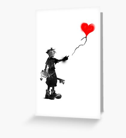 the boy,the key,the balloon Greeting Card