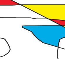 Deconstructing Cesar Manrique Sticker