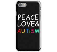 Peace, Love & Autism iPhone Case/Skin