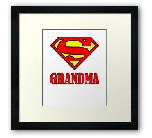 Super Grandma Framed Print